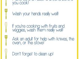 daily routine card rules for kitchen safety kitchen safety rules