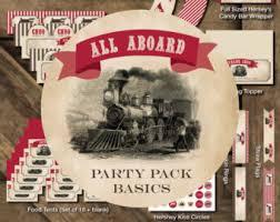 Vintage Birthday Decorations Train Birthday Party Etsy