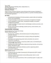 download product marketing engineer sample resume