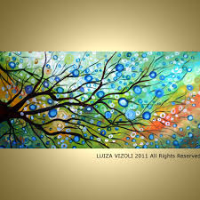 sale original abstract large modern fantasy tree by luizavizoli