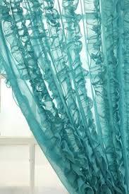 Turquoise Sheer Curtains Alison Coxon Fractal Turquoise Sheer Curtain Set Products