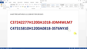avast free antivirus 2017 12 3 2280 offline licence key youtube