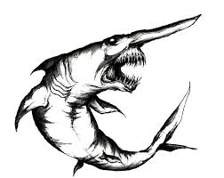 goblin shark by godofnumbers on deviantart