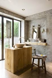 simple bathroom designs dark brown maple teak wooden vanity