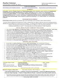 4 heather training social media resume sample