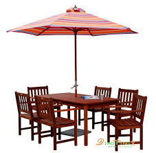 five piece solid wood tables and chairs combination balcony patio