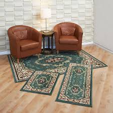 amazon com achim home furnishings capri 3 piece rug set rose