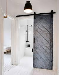 Bathroom Doors Scandinavian Bathroom With Sliding Door Different Types Of