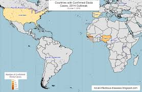 World Map Names Of Countries by World Map Countries With Confirmed Ebola Cases 2014 Outbreak
