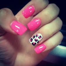 pink and cheetah nails designs fantasies nails