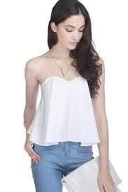 strapless blouse fayth cali strapless top