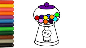 gumball machine coloring pages how to color with colorful markers