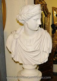 Greek God Statues by Marble Resin Bust Athena Greek Goddess Statue Ebay