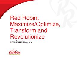 Seeking Robin Robin Gourmet Burgers Rrgb Presents At 20th Annual Icr