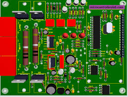 layout pcb inverter smart solar charge controller using microcontroller