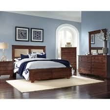 Contemporary King Bedroom Sets Brown Contemporary 6 Piece Upholstered King Bedroom Set Diego