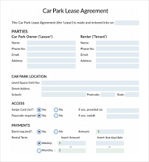 sample parking agreement template 10 free documents in pdf word