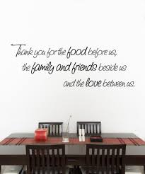 vinyl wall decal sticker quote thank you for the food before us the f vinyl wall decal sticker quote thank you for the food before us the family and friends beside us and the love between us item 891