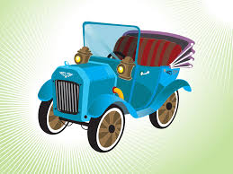 teal car clipart cartoon car
