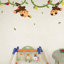 monkeys gone bananas nursery wall decals wallsneedlove