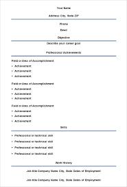 free blank resume templates blank resume template pdf sle professional blank resume template