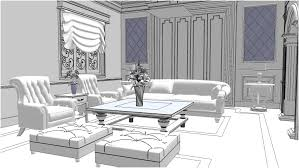 sketchup texture sketchup model living room