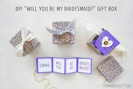 will you be my of honor ideas diy will you be my bridesmaid gift box free printable