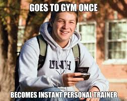 Personal Trainer Meme - the personal trainer test how does yours fare straight talking