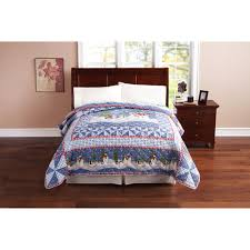 Walmart Bed Spreads Christmas Bedspreads Holiday Bedding Cozy Cotton Quilt Set