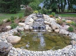 koi fish ponds waterfalls into pools and pondless waterfalls