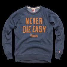 homage never die easy crewneck sweatshirt great lakes prep