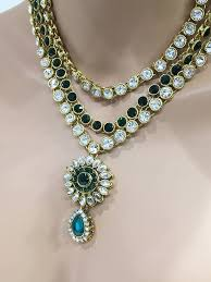 necklace set crystal images Flower inspired traditional indian wedding bridal kundan jewelry jpg