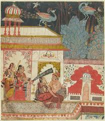 royal couple on terrace with two female attendants ca 1660 malwa india harvard art museumindia paintingmughal