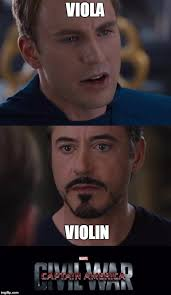 Violin Meme - viola vs violin civil war imgflip
