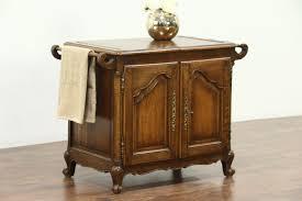 Flip Top Bar Cabinet Sold Oak Carved Antique Flip Top Bar Cabinet Raised Panels