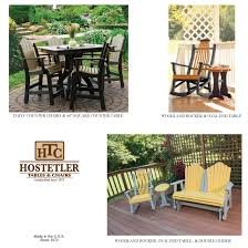Amish Poly Outdoor Furniture by Hostetler Tables U0026 Chairs Poly Outdoor Furniture Catalog