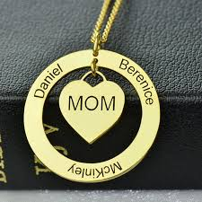 Mom Necklace With Kids Names Mother Daughter Jewelry U2013 Ashley Jewels