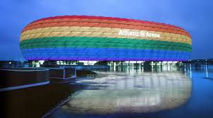 si e allianz allianz arena strahlt in regenbogen farben