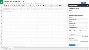 Good Spreadsheet Google Analytics And Google Spreadsheets Create Your Own
