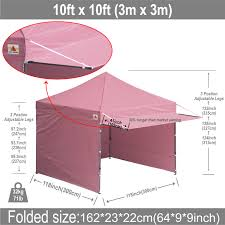 10 X 10 Awning 10x10 Abccanopy Easy Pop Up Canopy Tent Instant Shelter Deluxe