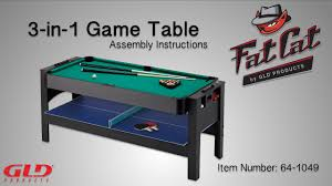 triumph sports 3 in 1 rotating game table how to fat cat 3 in 1 flip game table assembly instructions youtube