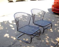 Wrought Iron Mesh Patio Furniture by Wrought Iron Patio Furniture Etsy