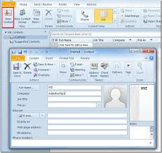 Microsoft Excel Address Book Template A User Guide On Outlook 2010 Address Book Contacts