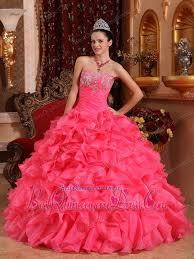 quinceanera pink dresses pink gown strapless floor length organza beading and