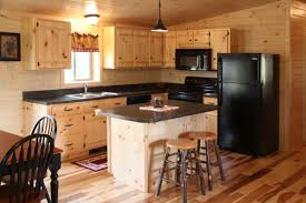 kitchen unfinished pine kitchen cabinet set and island with