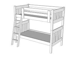 Bunk Bed Drawing B216 Bunk Bed The Bunk Loft Factory