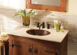 bathroom tile backsplash and bathroom mirror with bathroom