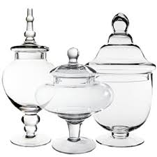 Candy Buffet Apothecary Jars by Cysexcel Glass Candy Buffet 3 Piece Apothecary Jar Set Wayfair