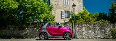 and quiet smart fortwo cabrio electric drive zips through geneva