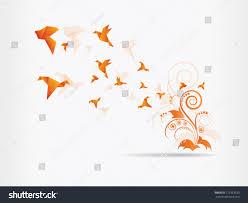 origami paper birdvector illustrationpolygonal shape paper stock